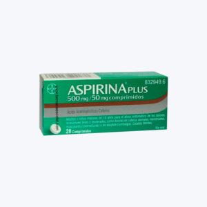 ASPIRINA PLUS 500 50 MG 20 COMPRIMIDOS