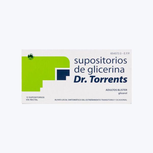 SUPOSITORIOS GLICERINA DR TORRENTS ADULTOS 3.27 G 12 SUPOSITORIOS