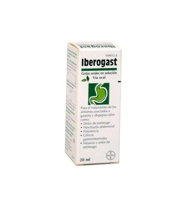 IBEROGAST GOTAS ORALES SOLUCION 1 FRASCO 20 ML