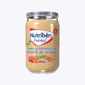 NUTRIBEN JAMON Y TERNERA CON MENESTRA DE VERDURA POTITO 235 G