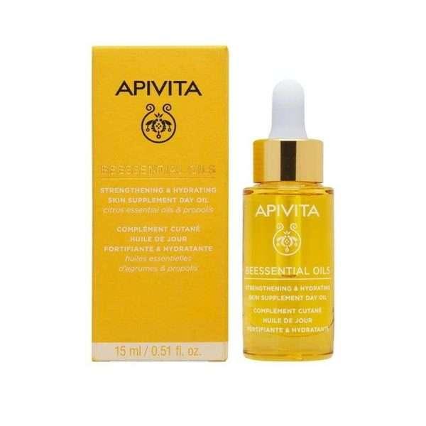 apivita beessential oils aceite de dia suplemento para la piel refuerza e hidrata 15 ml