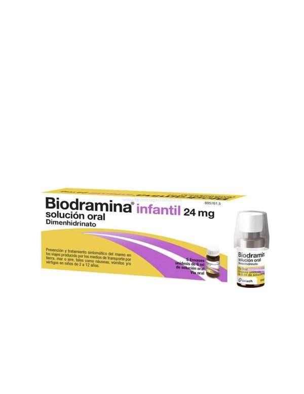 biodramina infantil 24 mg solucion oral 5 monodosis 6 ml