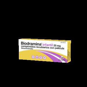 biodramina infantil 25 mg 12 comprimidos recubie