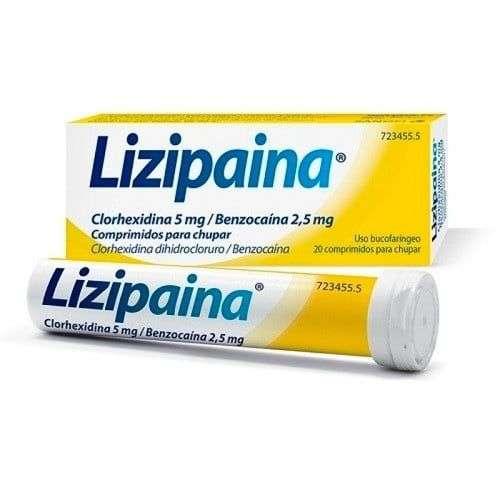 lizipaina clorhexidina benzocaina 5 mg 25 mg 20
