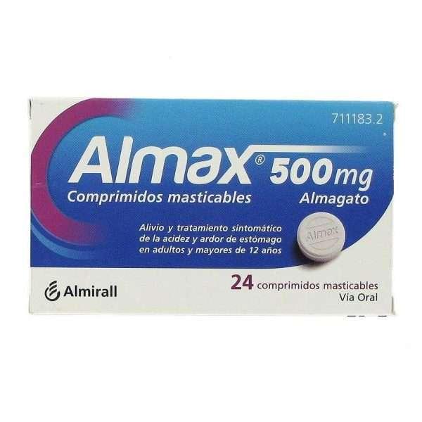Almax 500 Mg 24 Comprimidos Masticables