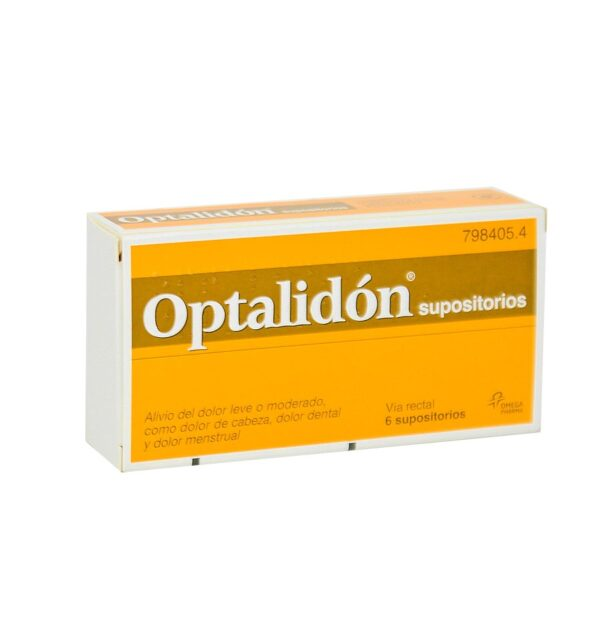 Optalidon 500 Mg75 Mg 6 Supositorios