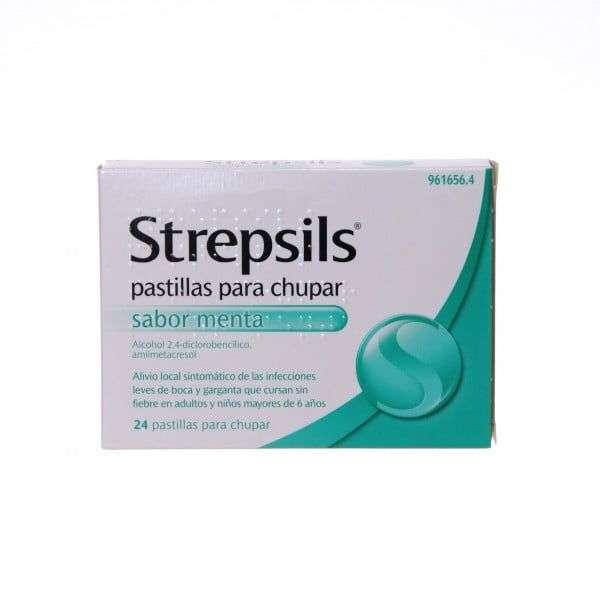strepsils 24 pastillas chupar menta