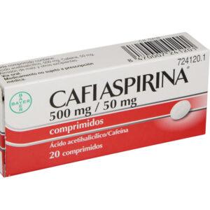 Cafiaspirina 500 Mg50 Mg 20 Comprimidos