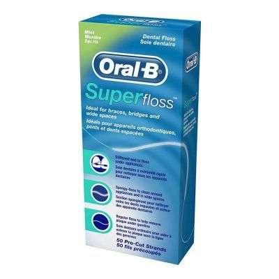 Oral b Superfloss Seda Dental Menta 50 U